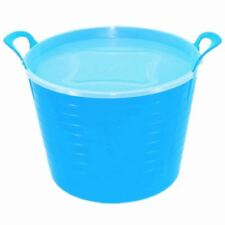42L BLUE FLEXI TUB COMPLETE WITH LID, STORAGE BUCKET TRUG, FLEXIBLE, CONTAINER