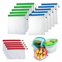 5Pcs Reusable Mesh Produce Bags Washable Eco Friendly Shopping Fruit Storage Bag