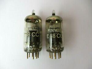 2 x E88CC Phillips Miniwatt für Röhrenverstärker, geprüfter Zustand
