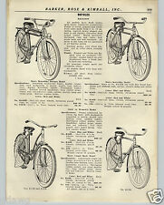 1936 PAPER AD Deluxe Balloon Tire Bicycle Tank Wheel Bell Head Light Motorbike