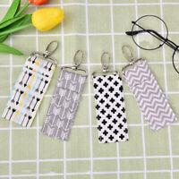 Black Retractable Key Chain Reel Steel Cord Recoil Belt Key Ring Badge HolderTEU