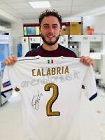 Calabria Italia U21 maglia indossata EURO 2017 match worn shirt MILAN AUTOGRAPH