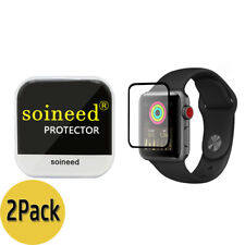 {2-Pack} SOINEED® Apple Watch 42mm Series 3 / 2 / 1 FULL COVER Tempered Glass