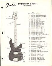 VINTAGE AD SHEET #3608 - FENDER GUITAR PARTS LIST - PRECISION BASS 18-0100