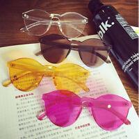 Women Cat Eye Transparent Candy Sunglasses Sun Shades Men Luxury 8 Colors New
