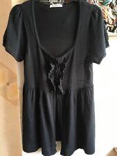 Ladies Black Short Sleeve Cardigan Size 12 by George