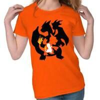 Fire Lizard Evolution Video Gamer Nerd Geeky Tee Shirts Tshirts For Women