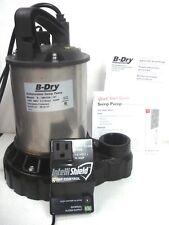 B Dry 12 Hp Submersible Sump Pump Probe Switch High Water Alarm B Dry50 01 Nib