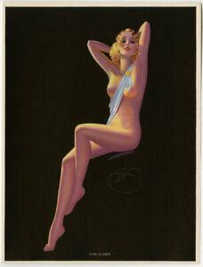 Vintage 1940s Billy Devorss Pin-Up Print Beautiful Art Deco Some Number