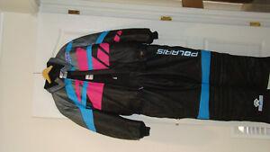 Vintage leather Polaris snowmobile suit