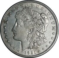 1921-D $1 MORGAN SILVER DOLLAR XF/AU DETAILS CLEANED / CULL CONDITION  041421032