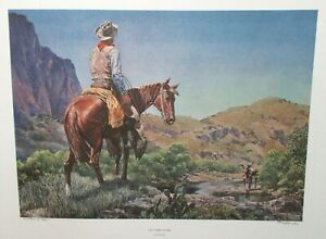 """TOM LEA """"AND THERE HE WAS"""" HAND SIGNED LIMITED EDITION LARGE LITHOGRAPH 1972"""