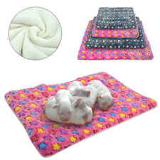 Soft Warm Puppy Dog Bed Mat Plush Cushion Mattress Kennel for Medium Large Dogs