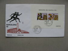 ANDORRA, cover FDC 1992, S/S Olympic Games Barcelona