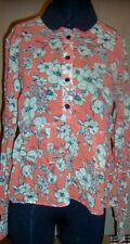 Shirt Tangerine ASOS Semi-Sheer Floral Print Misses size 4 New