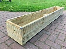 2ft - 6ft JUMBO EXTRA LARGE Wooden Planter Long Decking Timber Trough Garden Tub