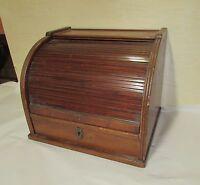 Antique Mahogany Roll Top Storage Cabinet Medical ? Dentist ? Optometrist ?