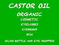 ORGANIC CASTOR OIL 8 Oz  USP GRADE PURE HEXANE FREE eyelashes hair skin eyebrow