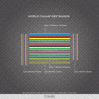 01346 World Champion Stripes Bands - Bicycle Decals Stickers - White Edges