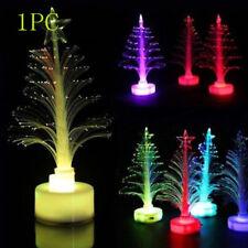 Battery Operated  Multicolor Fiber Optic LED Christmas Tree  Decorative Lights