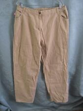 Woman Within Elastic Back Beige Jeans Size 20 Tall Classic Fit