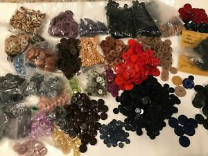 8-1/2 Lbs Vintage Lot of Sewing Buttons SEE PICTURES FOR DETAILS  Made in USA