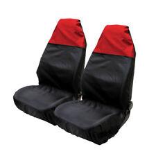 2 pcs Car Seat Cover Front Waterproof Van Auto Vehicle Protector Black Universal