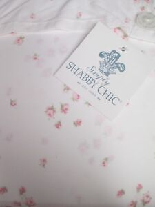 Simply Shabby Chic White Pink Rosebud Sprinkles Sheet Set - Cal King