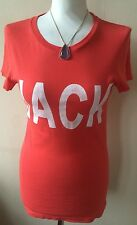 Lovely Orange/Pink Short Sleeved Scoop Neck Top By Jack Wills Size 8