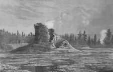 YELLOWSTONE. Washburn-Langford-Doane Expedition. The Giant Geyser. Wyoming, 1873