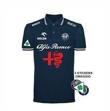 Polo Blu tricolore NEW ALFA ROMEO REPLICA SUPERSPORT Rally auto+ Stickers