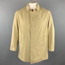 STEVEN ALAN M Khaki Cotton Hidden Buttons Coat