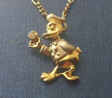 Rare Vintage 18 K 2-Tone Solid Yellow White Gold Diamond  Duck Charm / Pendant