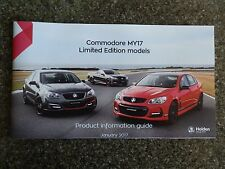 2017 VF(2) HOLDEN LIMITED EDITION ''MOTORSPORT,DIRECTOR & MAGNUM''  BROCHURE
