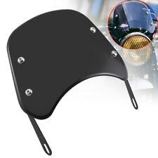 "Universal Black 5-7"" Front Headlights Motorcycle Windscreen Windshield For Honda"