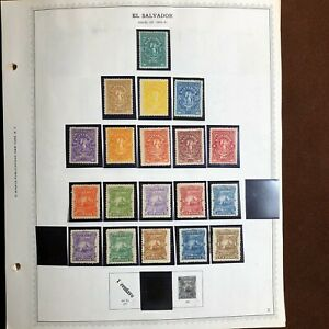 Packed EL SALVADOR 1867-1980's HIGH VALUE Stamp Collection on Minkus Album Pages