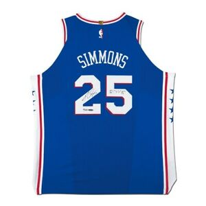 """Ben Simmons Signed Autographed Blue 76ers Jersey """"ROY 18"""" Inscribed #/225 UDA"""