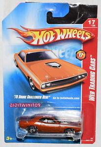 Hot Wheels 2008 Toile Échange Voitures '70 Dodge Challenger Hemi Orange