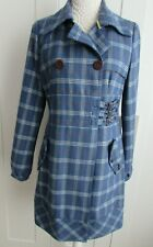 Oakley Women's Wool Blend Blue Mix Plaid Coat Size S / M