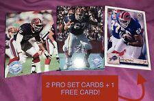 1991 NFL Pro Set Platinum Buffalo Bills Cards #6 & #7 Talley & Hull – 2 Card +1!