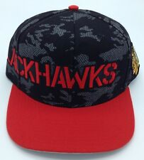 81346e00d47 NHL Chicago Blackhawks Reebok Adult Adjustable Fit Lace Look Cap Hat Beanie  NEW!