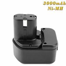 12V 3000mAh Ni-MH Batería para Hitachi EB1212S EB1214L EB1214S 324361 324362