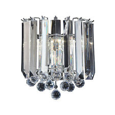 Endon Fargo 2lt wall chandelier light 60W Chrome effect plate & clear acrylic