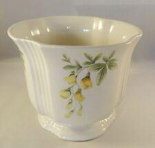 "Royal Winton Grimwades 5 1/2"" Floral Yellow Laburnam Flower Pot Jardiniere VGC"