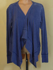 Route 66 Womens Blue Distressed Fabric Swing Jacket Soft Large NWT 20908