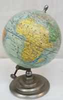 J FOREST Ancien GLOBE TERRESTRE 1 80 000 000 1940's Aluminium et Verre Earth H