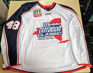 2009-2010 David Liffiton Syracuse Crunch AHL Game Worn Mirabito Outdoor Classic