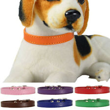 BL_ Chic Adjustable Cow PU Leather Pet Dog Cat Puppy Collar Neck Buckle Strap ta
