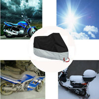 Universal Motorcycle Cover Waterproof With Lock-holes L Rain Dust UV Protector