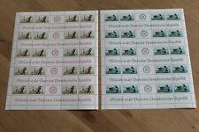 DDR Zusammendruckbogen Satz 3265-3266 Briefmarkenausstellung postfrisch (B1469)